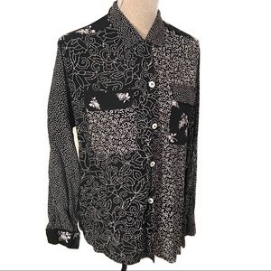 Vintage 90's abstract top blouse
